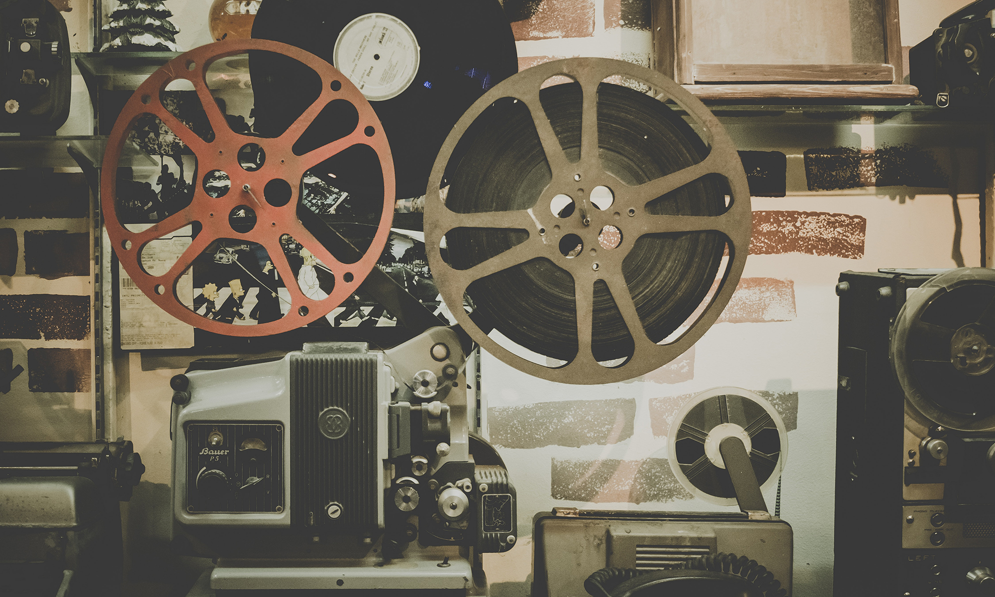 reel to reel projector and film